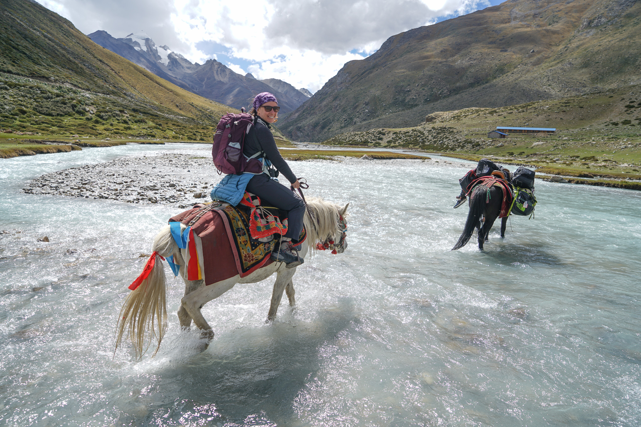 The horses certainly made the trek easier. Up and down trails and crossing rivers of ice cold glacier melt