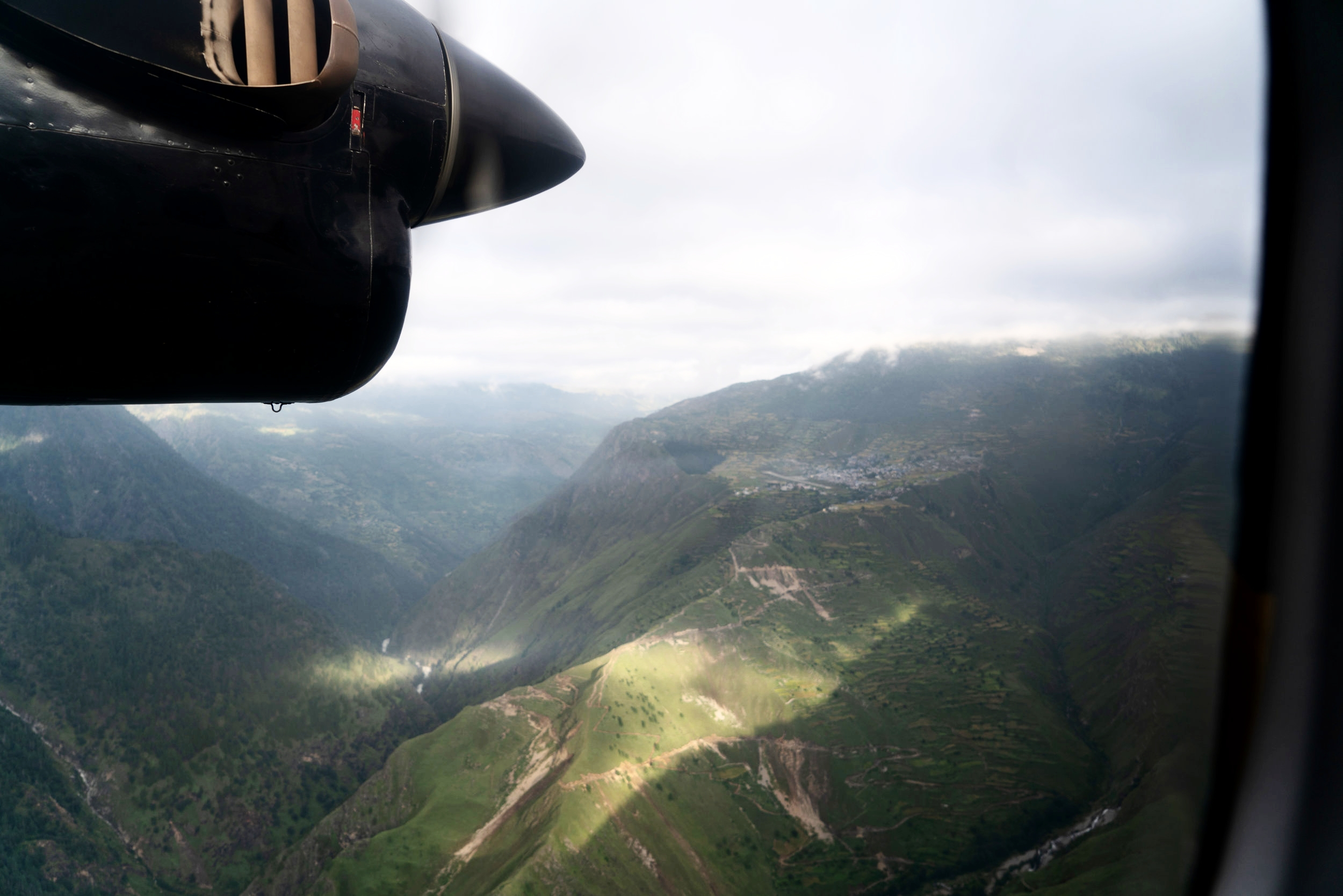 Flying to the mountain airport of Simikot