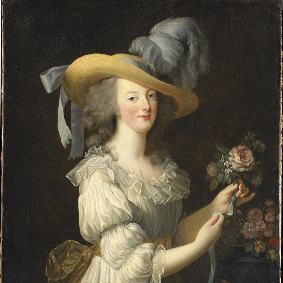 Portrait de Marie Antoinette en robe de mousseline dite 'à la créole', 'en chemise' ou 'en gaulle'. © Hessische Hausstiftung, Kronberg im Taunus