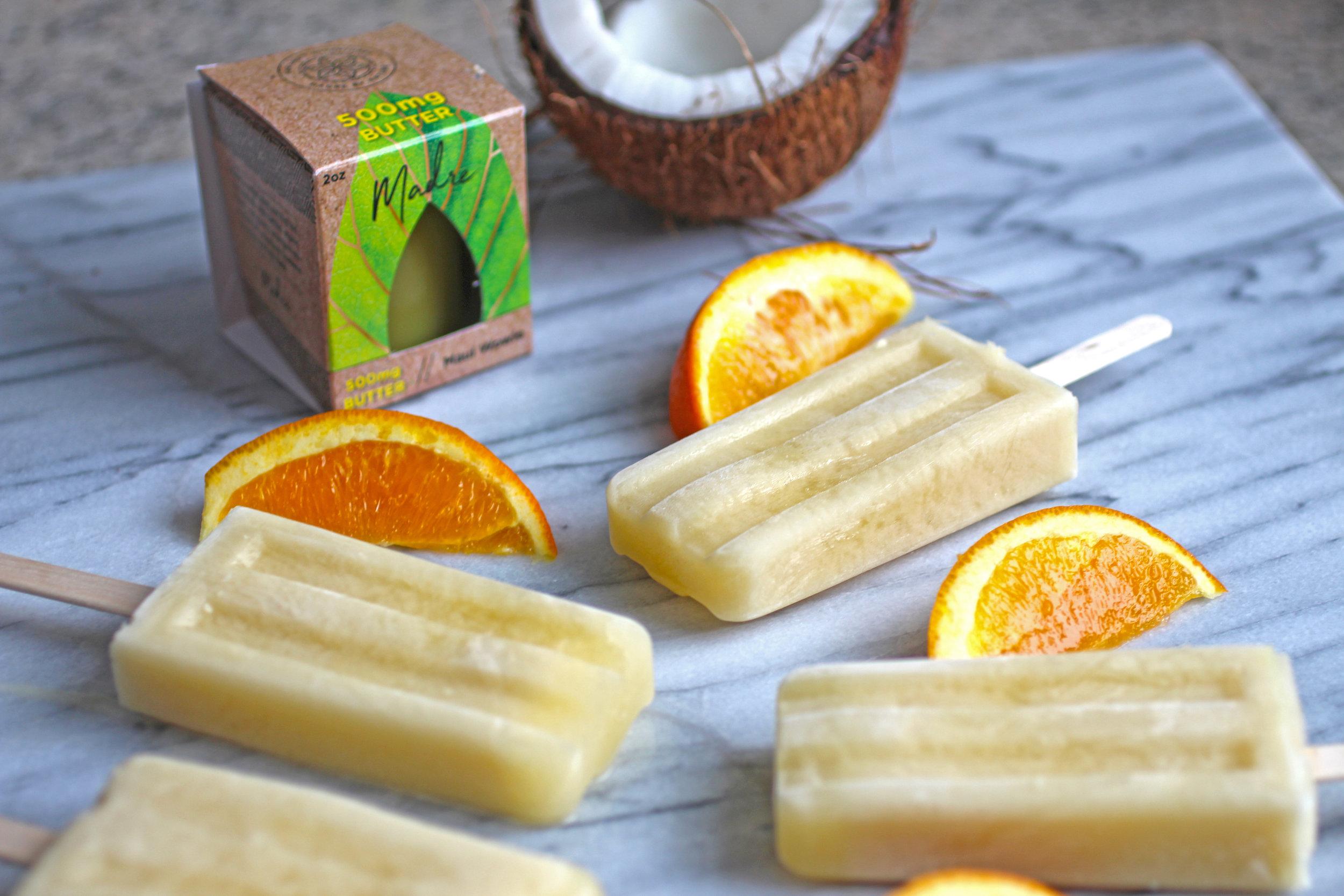 Orange Coconut Popsicles -