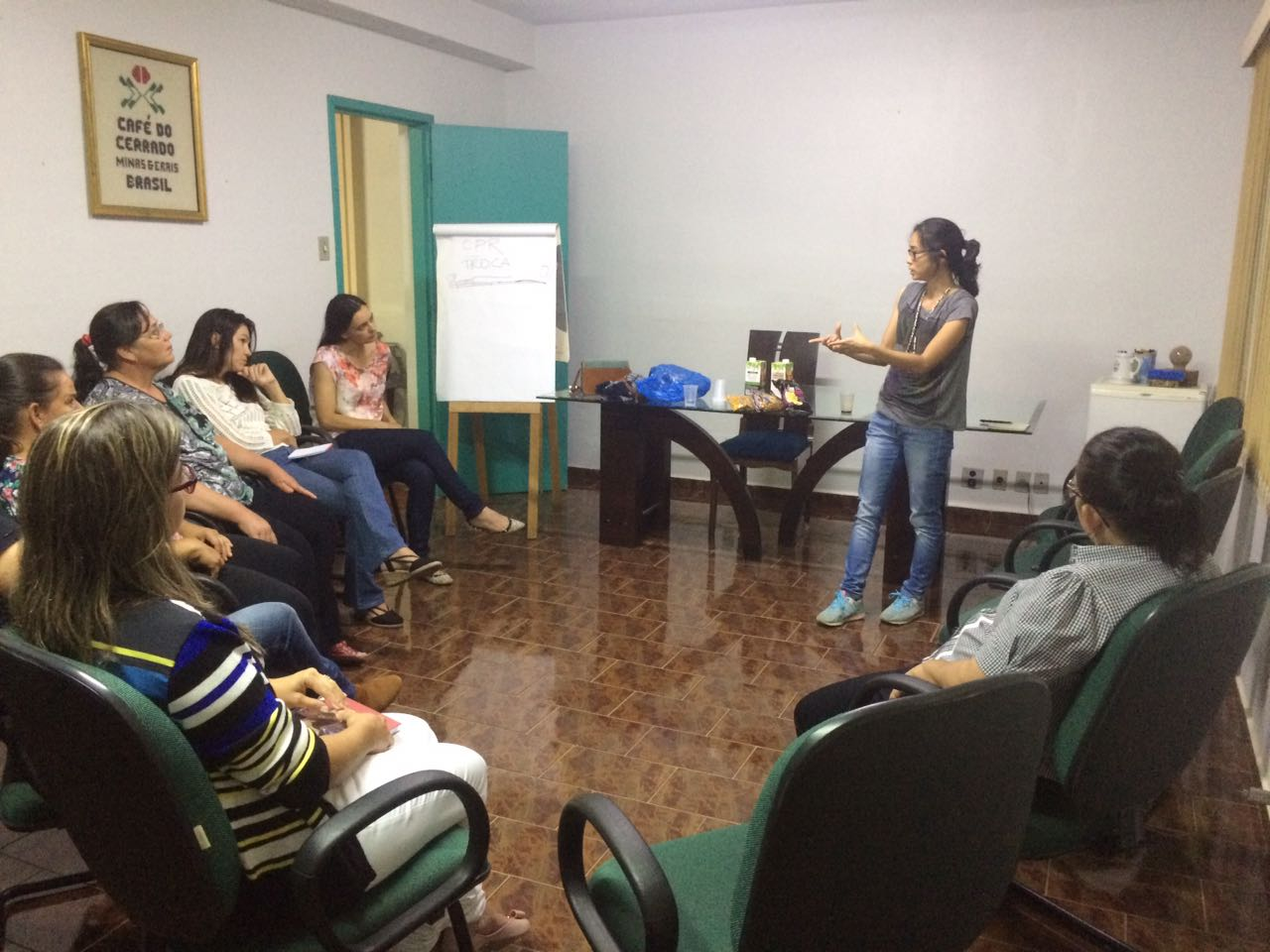 Meeting with women coffee producers