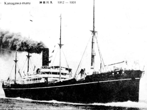 The ship that brought Minami family to Brazil (1927)