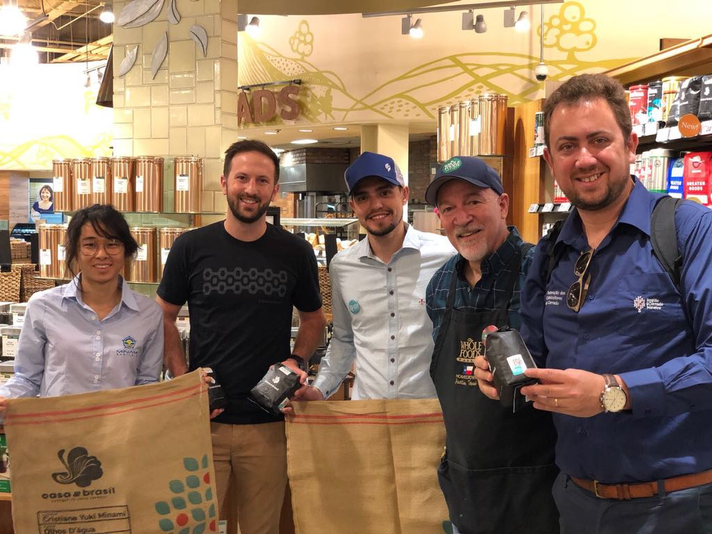 With Ian Myers, Casa Brasil manager, Edu from Fazenda Espigão do Palmital, Michael, coffee buyer for the Whole Foods store, and Juliano Tarabal from Cerrado Coffee Growers Federation