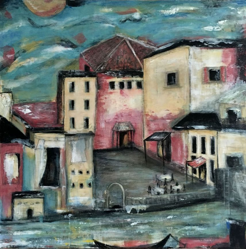 Plazza Del Tramonto (Italy) Sold (prints available)