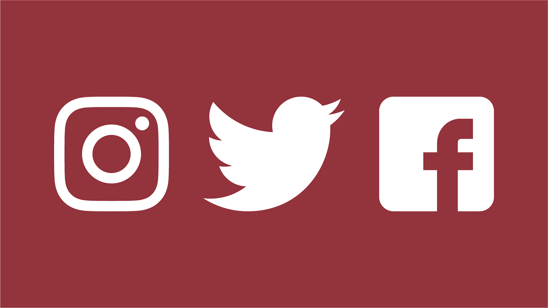 Connect with us online  - Instagram  |  Twitter  |  Facebook