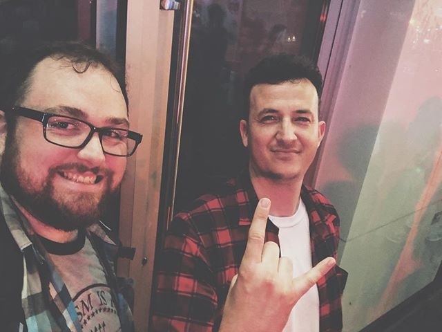 Finally got to meet up with @masterthomasmagleby from @crashbombtheband tonight! It was a super rad evening full of Japanese food and talking about the weird mix of chiptune and punk rock that we make. Let's hang again soon!