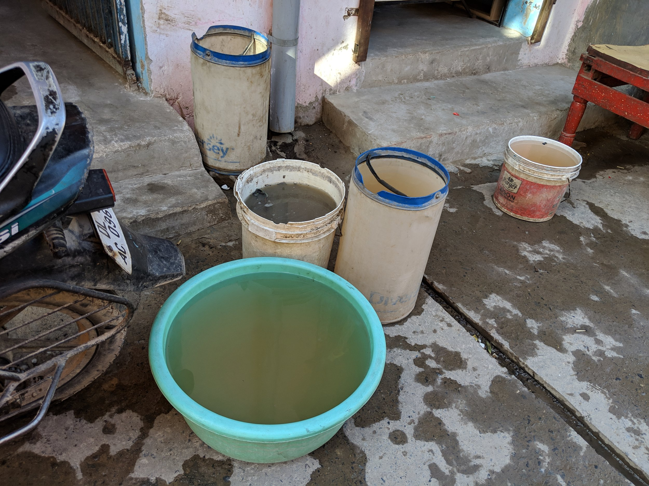Access to sanitation - Water contamination is difficult to control in open stagnant containers. 150,000 children in India die every year from water borne illnesses. The most effective way to prevent this is through hand washing.