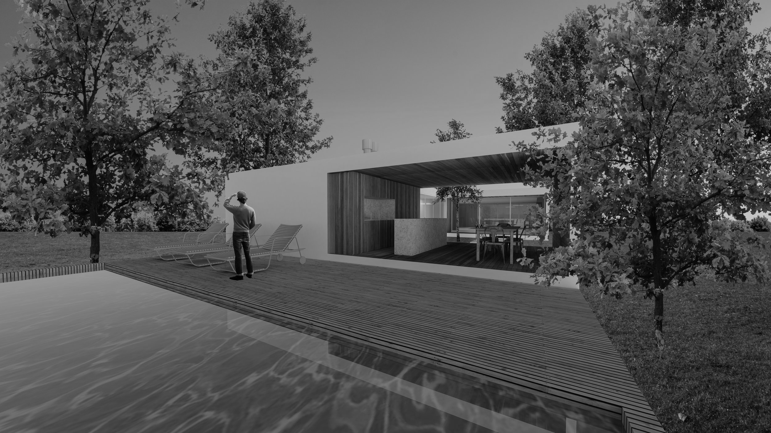 quark // out - desenvolvemos um projeto de paisagismo e ambientação para sua quark tiny house. criamos uma atmosfera para o uso de seu módulo, de forma que ele se integre de modo mais orgânico ao seu entorno.