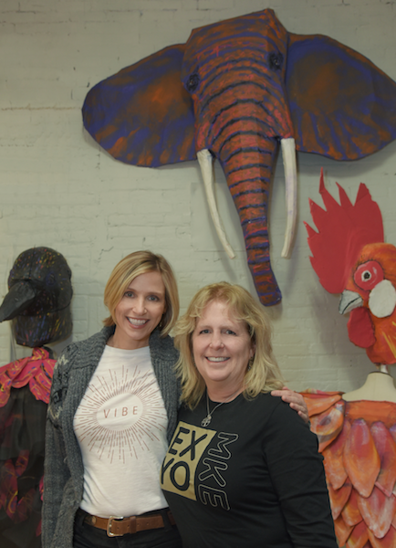 With Lori Vance at Express Yourself Milwaukee Studio Photo- Katy Rowe