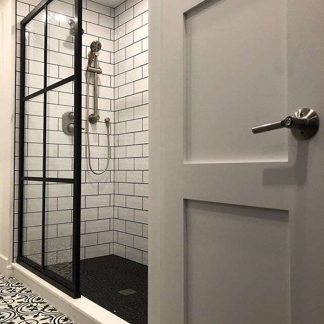 This bathroom started life as two tiny full bathrooms. With barely enough floor space to stand and zero storage space we decided to defy common convention, omit one of two toilets and convert these once cramped space into one luxurious master bath.