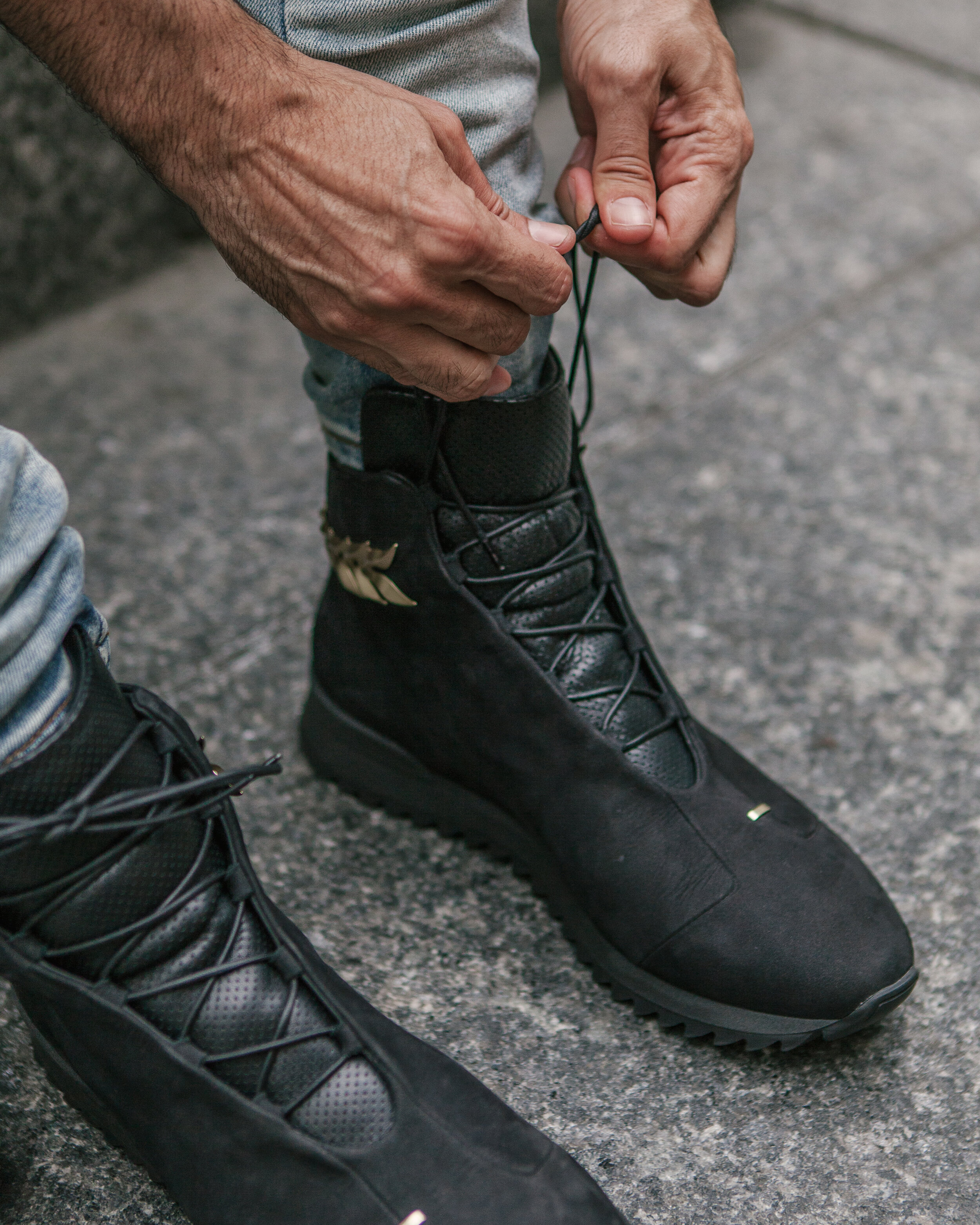 Lace Up For Fall In Man Of Gold Fashion. -