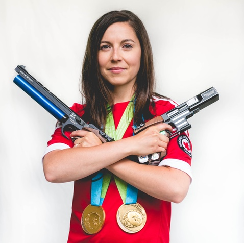 Lynda Kiejko, Double Gold Medalist (25m Pistol, 10m Air Pistol) 2015 Pan Am Games, Toronto, ON