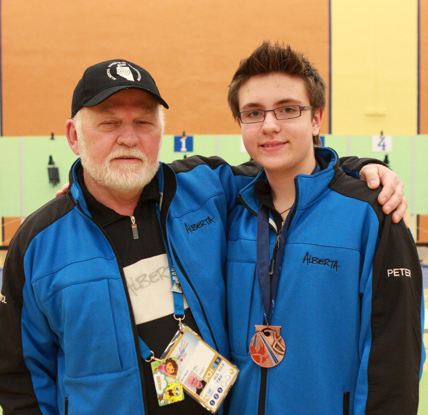 2011 Canada Winter Games, Halifax, NS Coach Arno Baron, Peter Schulze (Bronze - AP60 Team, Bronze - AP60 Individual)