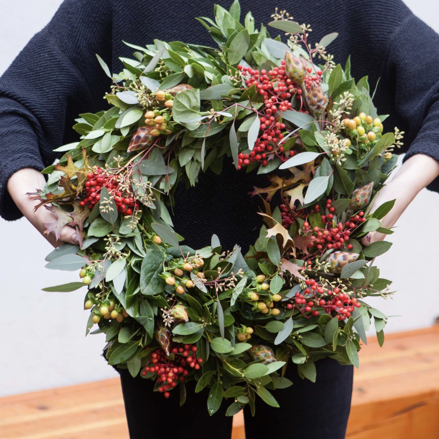 Mission de Flores - Choose from modern or more traditional designs with this Mission-based florist's generously sized wreaths.$85, Harvest Wreath