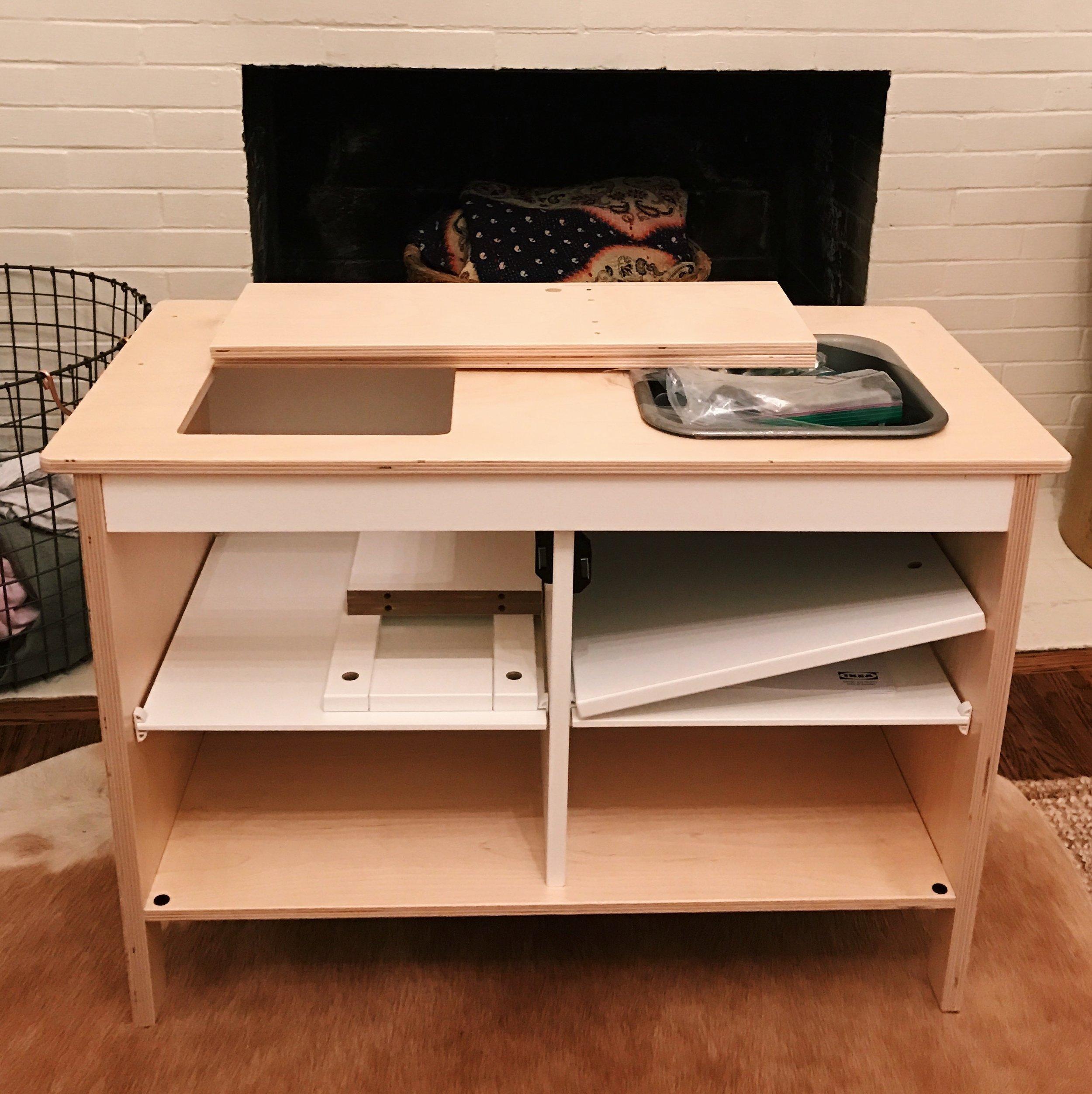 Building DIY Ikea Play Kitchen | Design Confetti