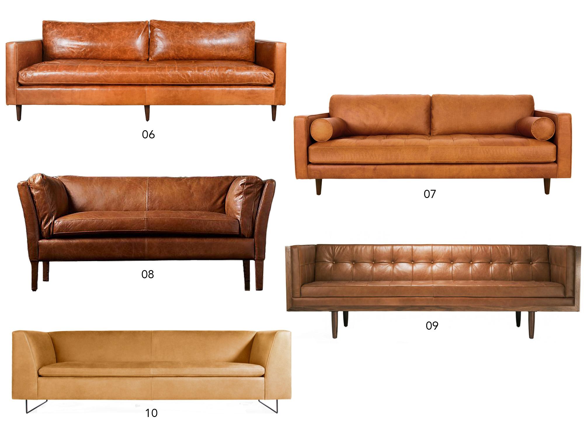 Shop: The Perfect Tan Leather Sofa | Design Confetti