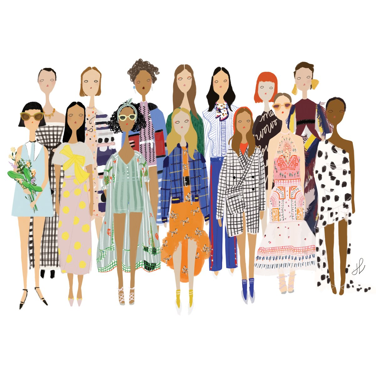 Fashion Ladies Print by People of Fashion, $30 - We can't stop staring at this print for the best possible reason, it's like people-watching on an (extremely hip) street corner, except from your living room.