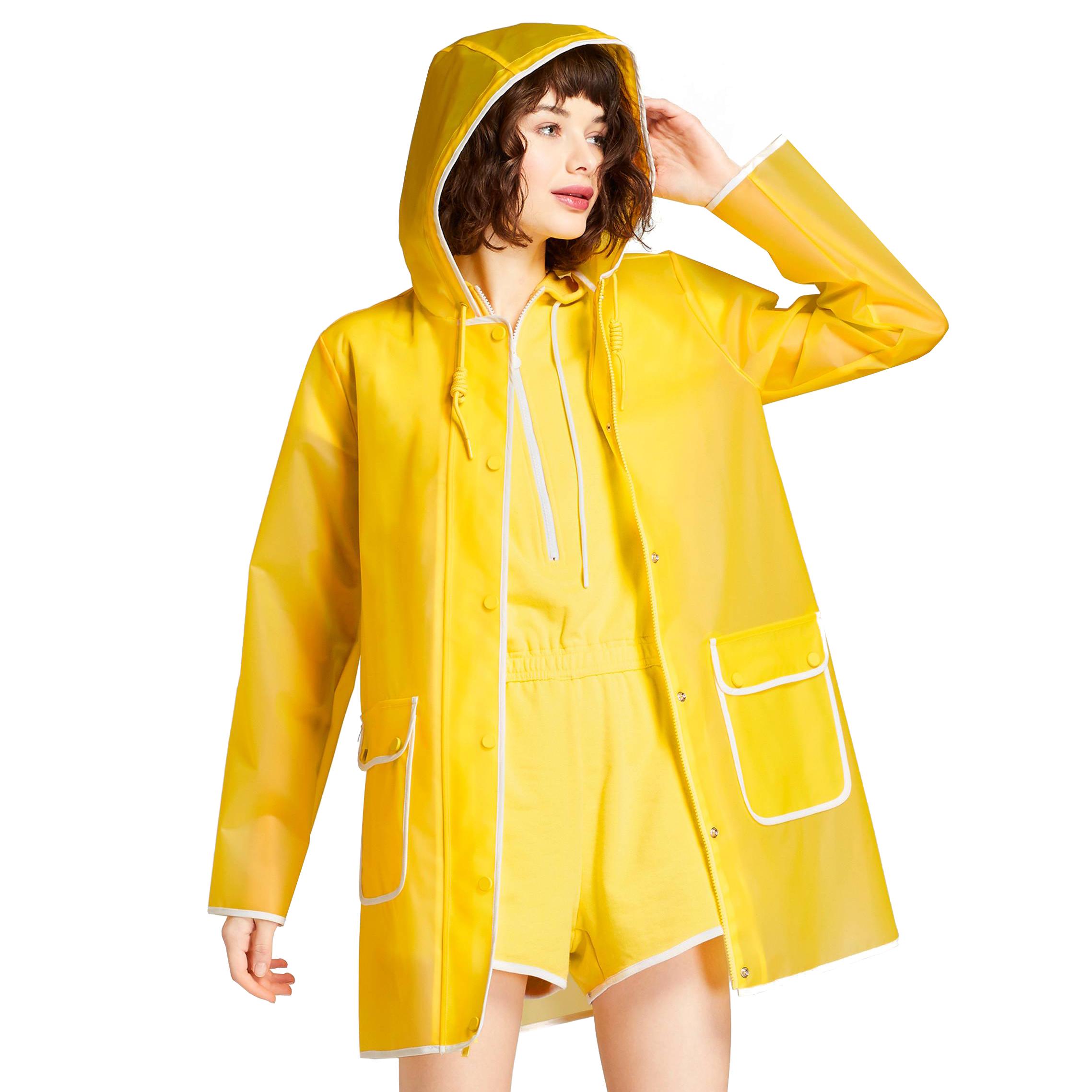 Women's Rain Coat Yellow, $45