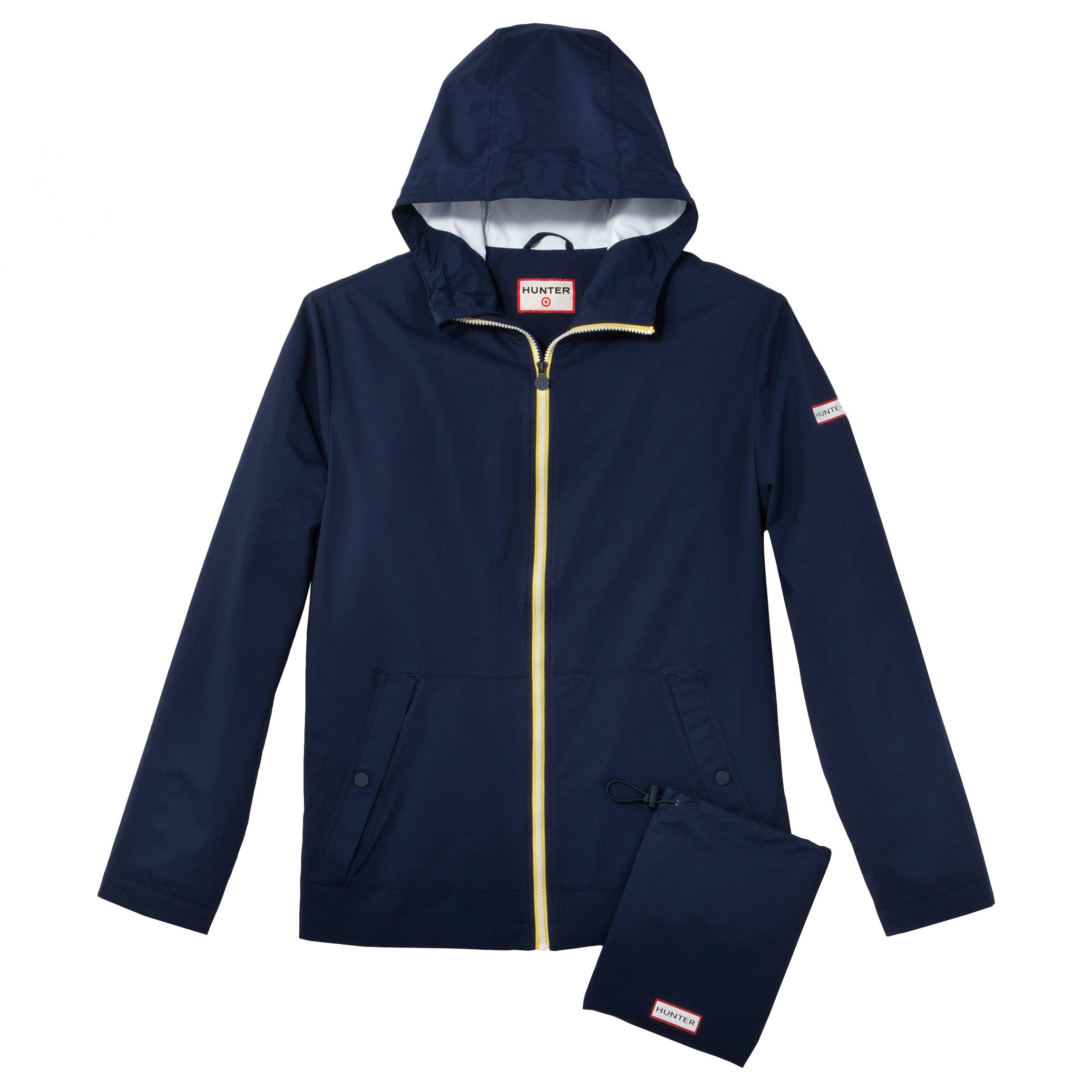 Packable Rain Coat Navy, $40