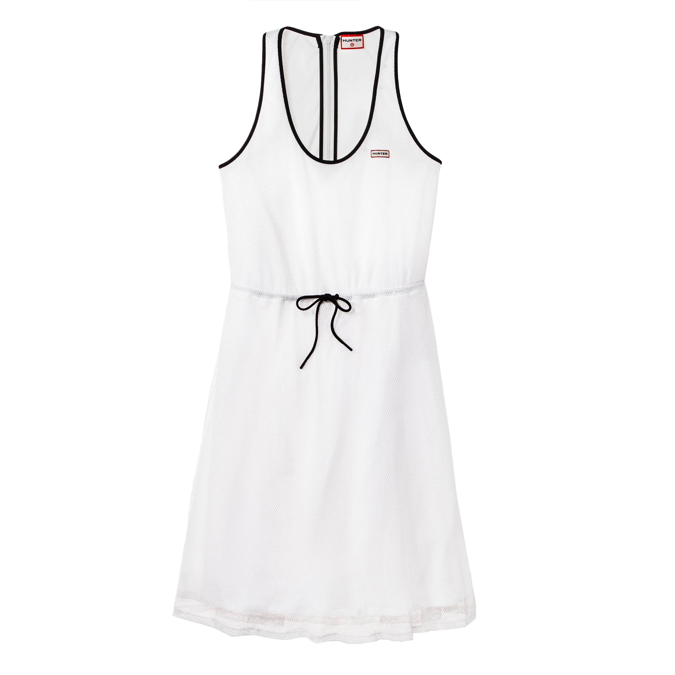 Mesh A-Line Dress White, $35