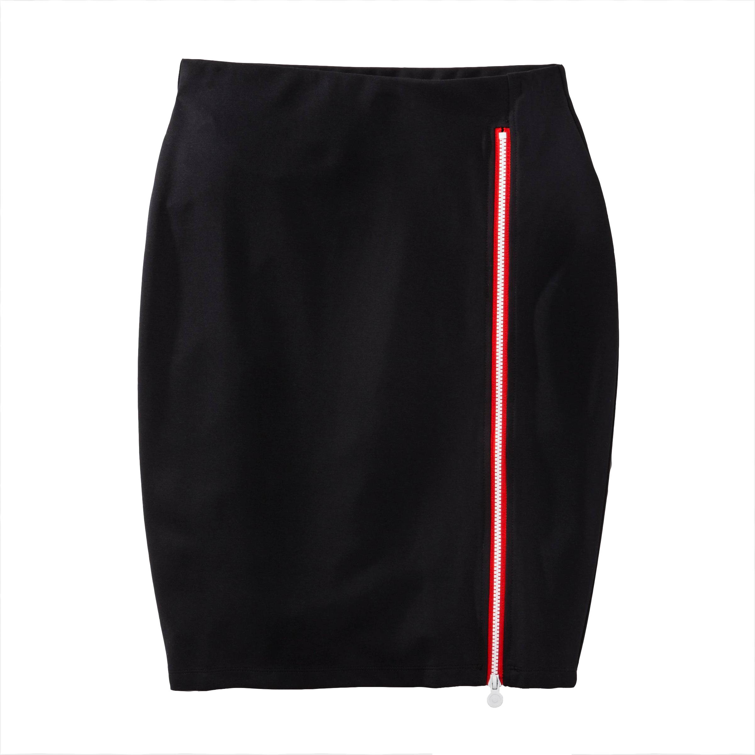 Side Zip Pencil Skirt Black, $30