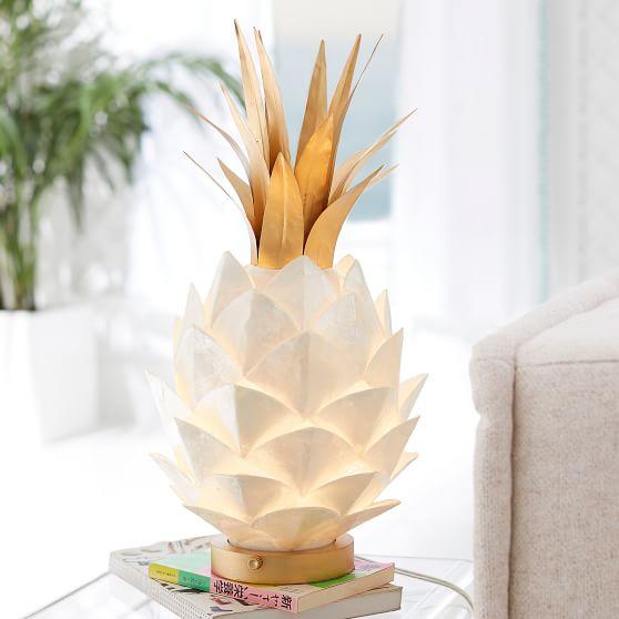 Capiz Pineapple Lamp, $159