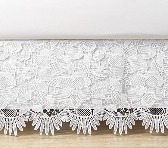 Eyelet Bed Skirt, $129 – $189