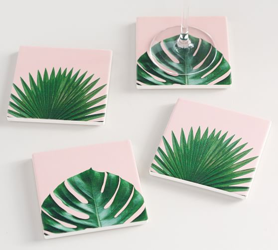 Palm Print Coasters, Set Of 4, $19.50
