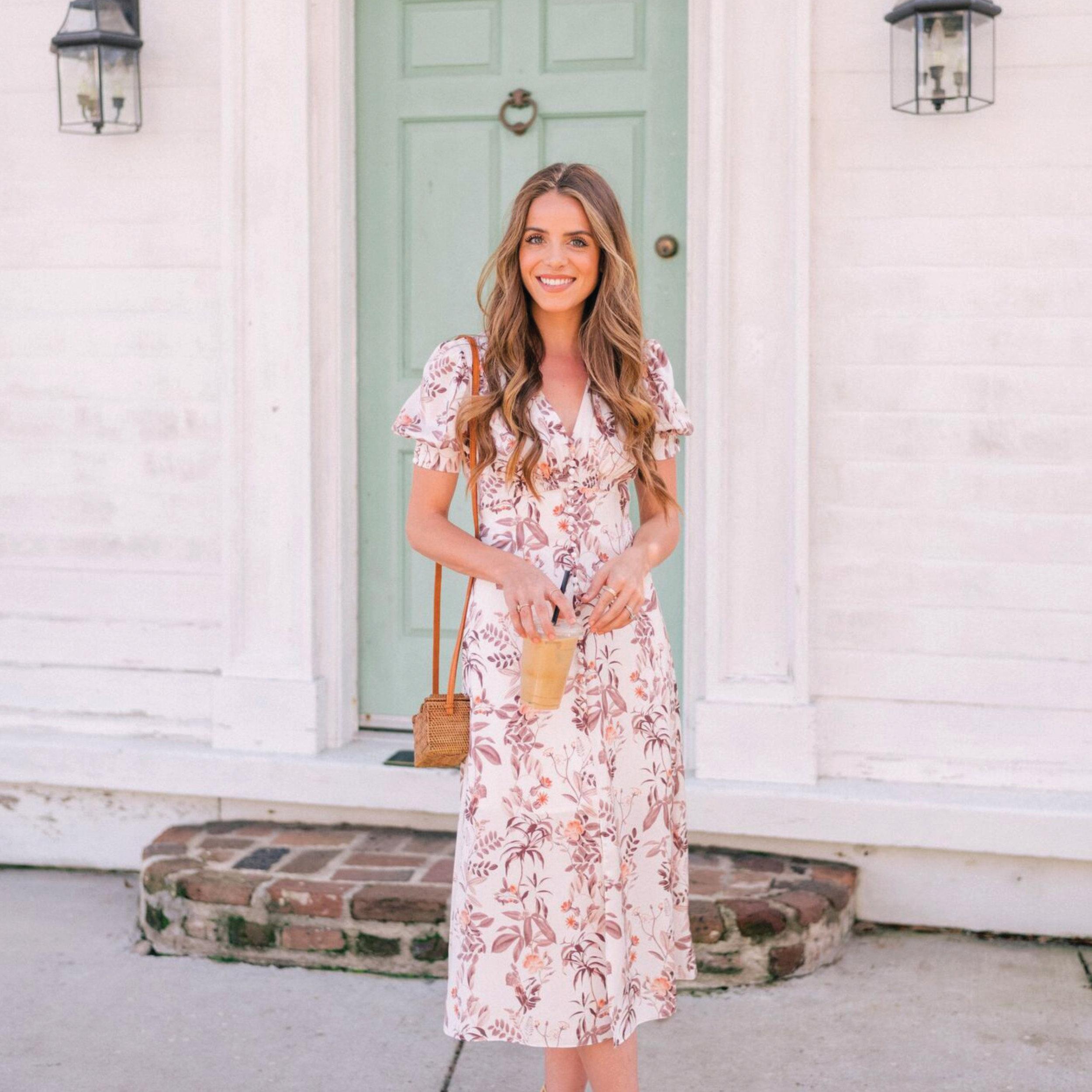 Image via Gal Meets Glam |  Lauren  in Beige/Alloy Orange $178