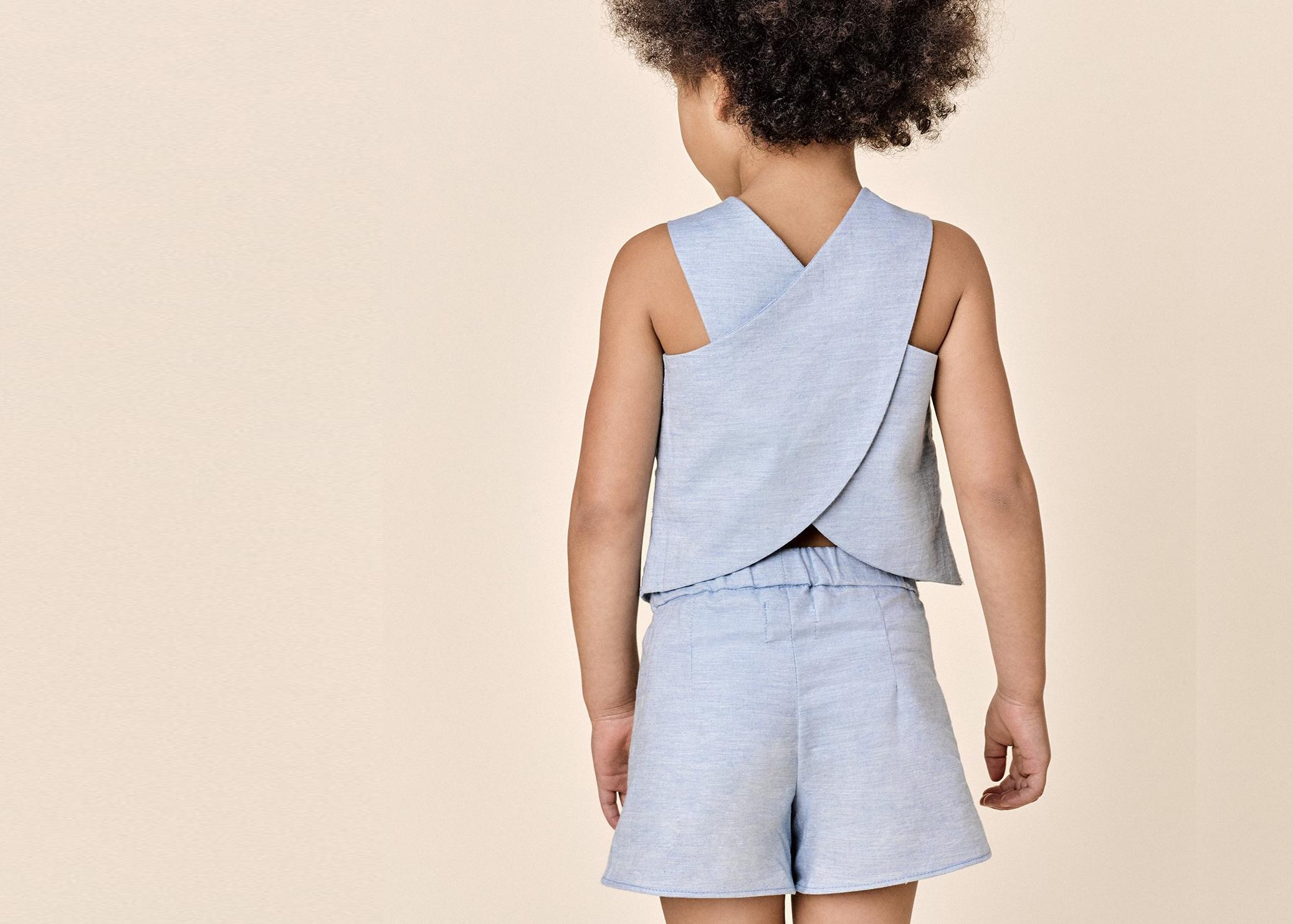Beru Kids Bridget Apron Back Blouse and Short Set, $22