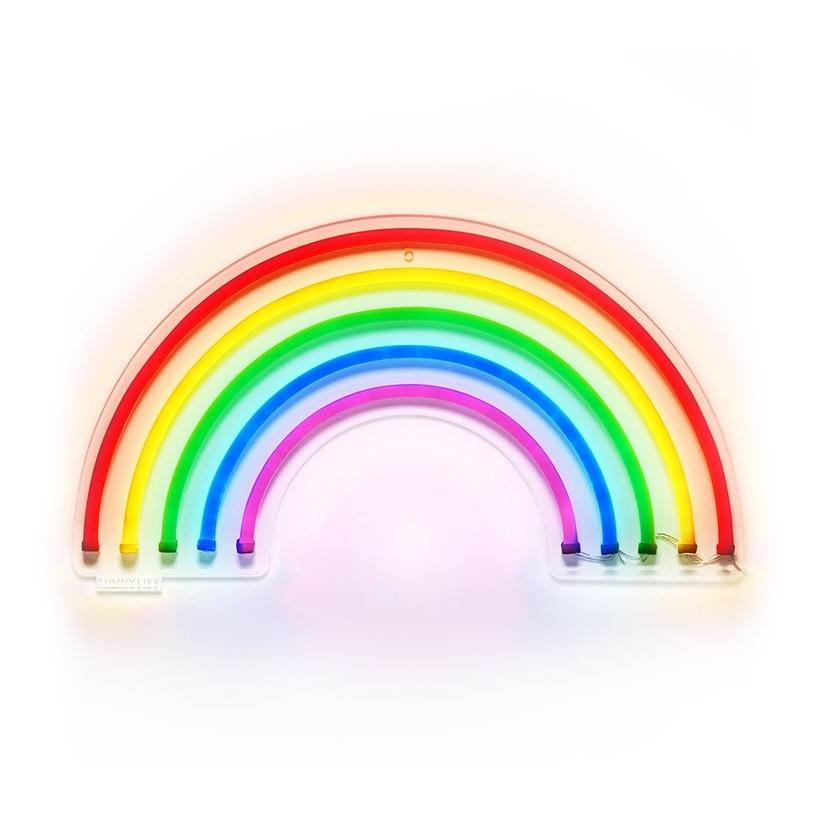 Rainbow Neon Wall Sign, $60