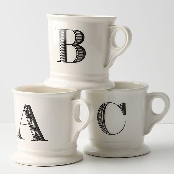 Monogram Mug, $8