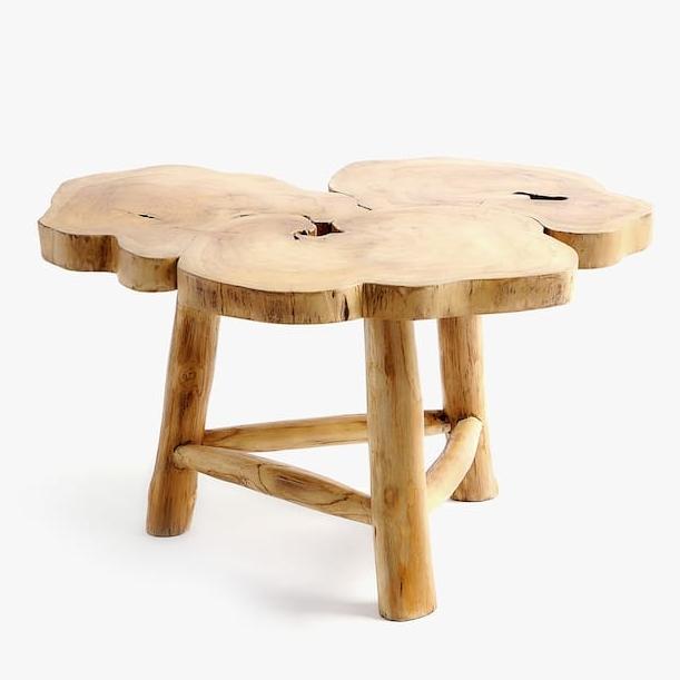Irregular Teak Wooden Table, $250