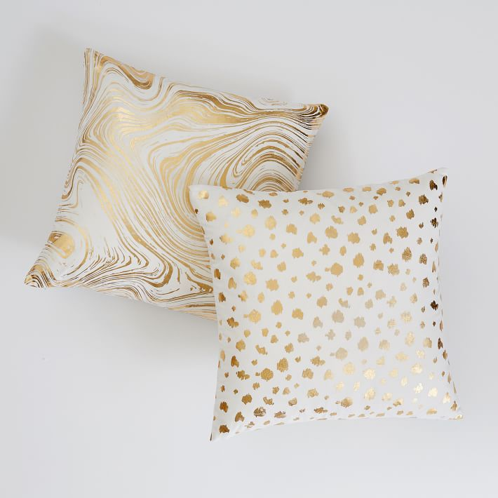 Metallic Pillow Cover, $29.50