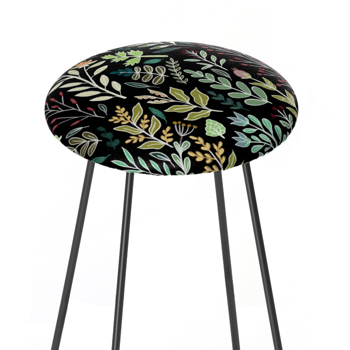Dark Botanic Counter Stool, Society6, $179 -