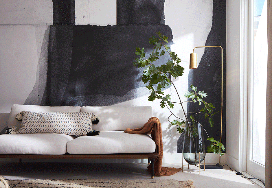 Image via Minted |  Construct 1 removable wall mural , $683