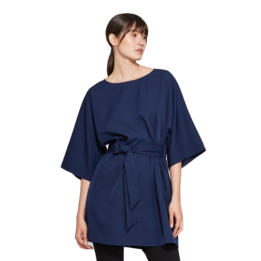 Women's Elbow Sleeve Boat Neck Tie Waist Dress, Target, $27.99 -