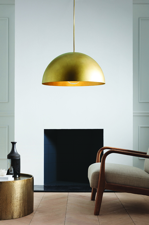 Metal Dome Extra Large Pendant Lamp Gold, $150 -