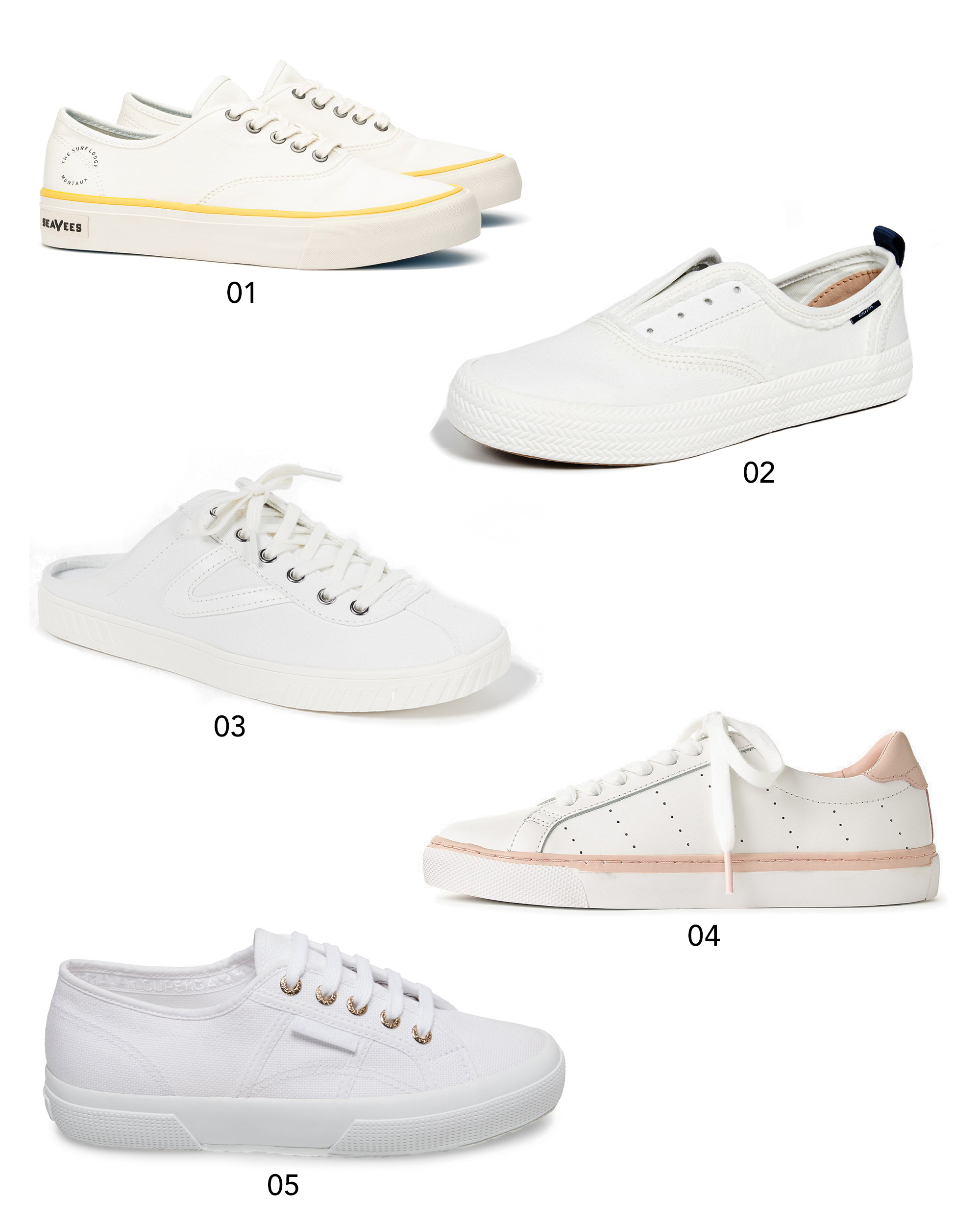 10 Classic White Sneakers Under $100 | Design Confetti