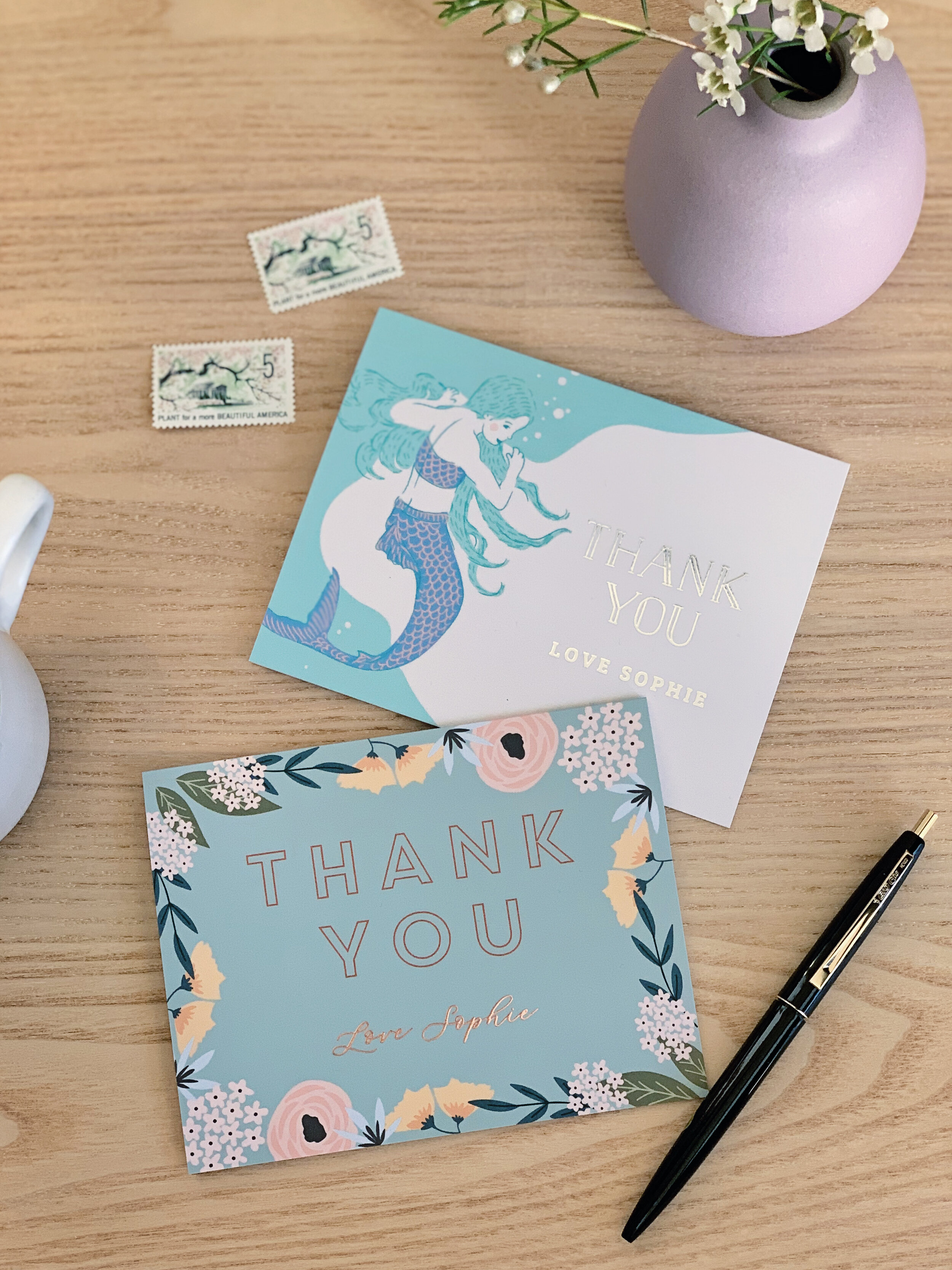 Creating Customized Thank You Cards With Basic Invite | Sponsored Post