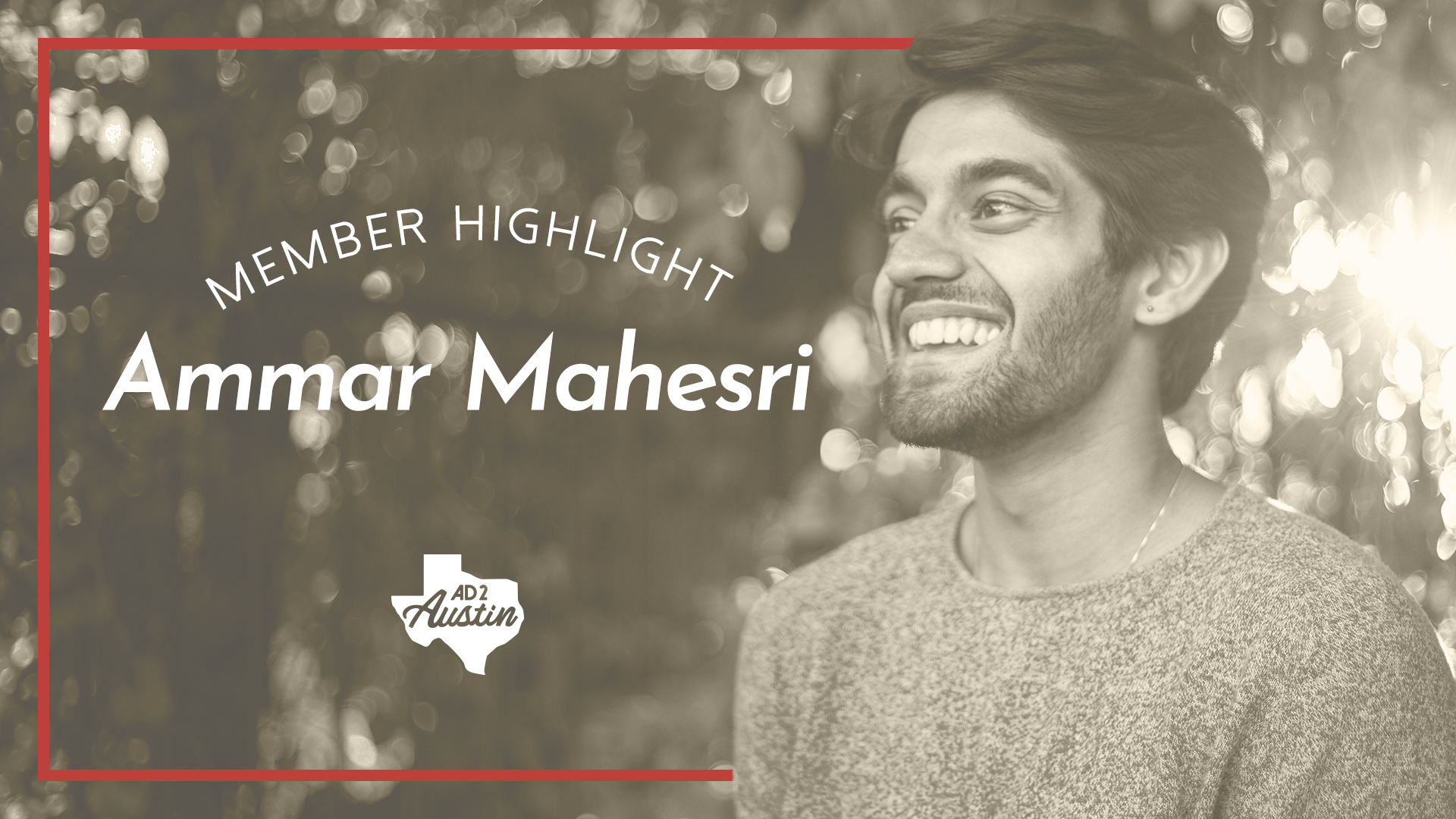 Introducing the first in our new series of interviews to highlight our spectacular members! We're starting with the following conversation between our Membership Co-Chairs, Chris and Caitlin, and our first highlighted member: Ammar Mahesri, one of our Diversity Co-Chairs.