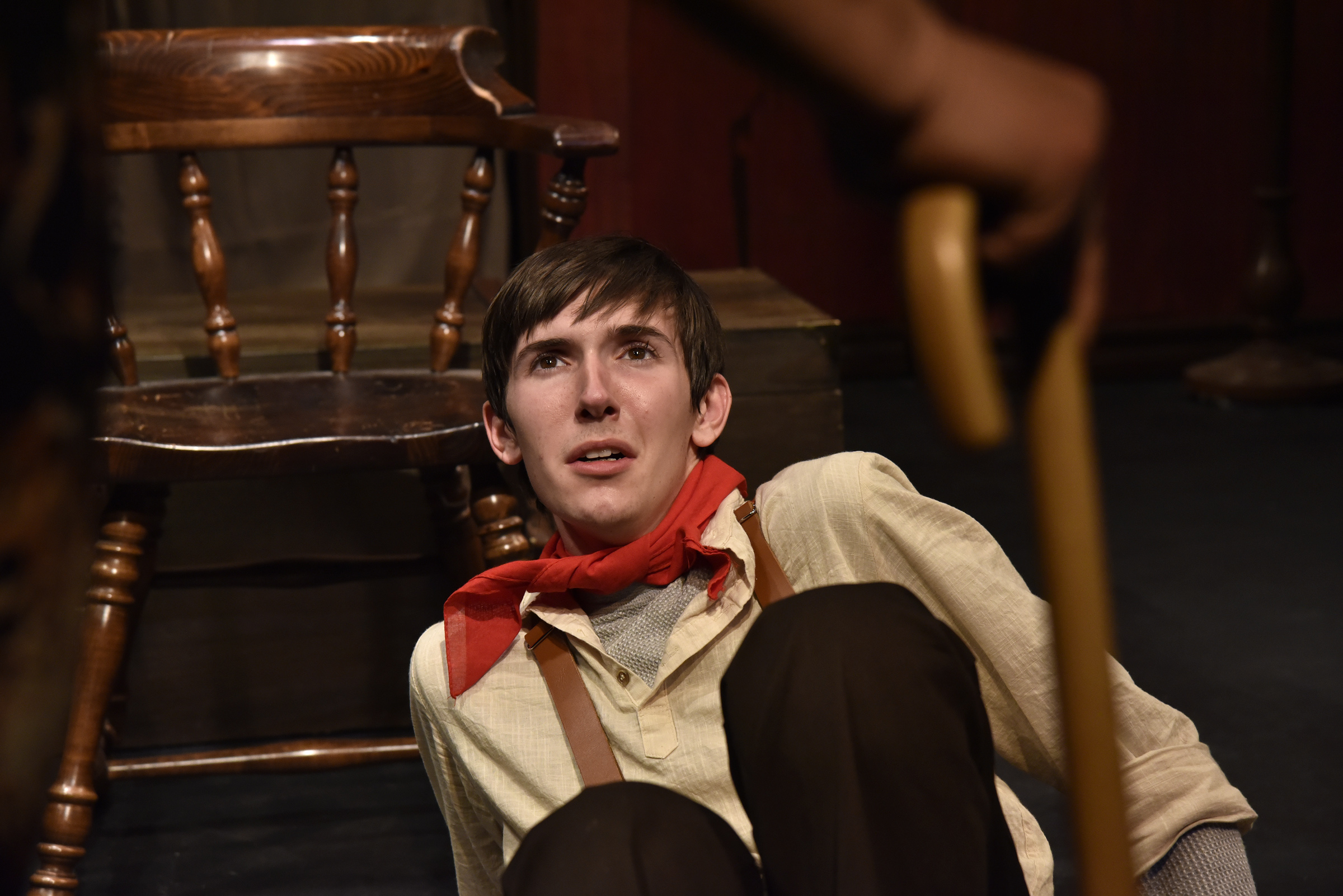 Josh Eliot in  The Medium .  Costumes by Becky McGuigan.  Photo by Wendy Mutz