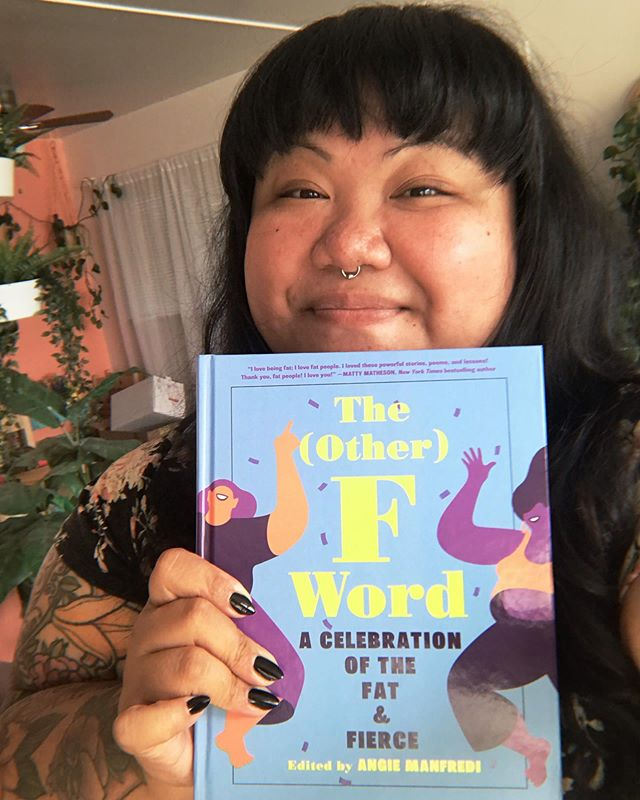Tomorrow at 2 pm, join THE (OTHER) F WORD editor @fatgirlreading and contributors Bruce Sturgell of @chubstr and PNW Fattitude founder @rachelleabellar for a Q&A and book signing at @tworiversbooks! PDX fat fam, come through!!! #fatfiercefearless