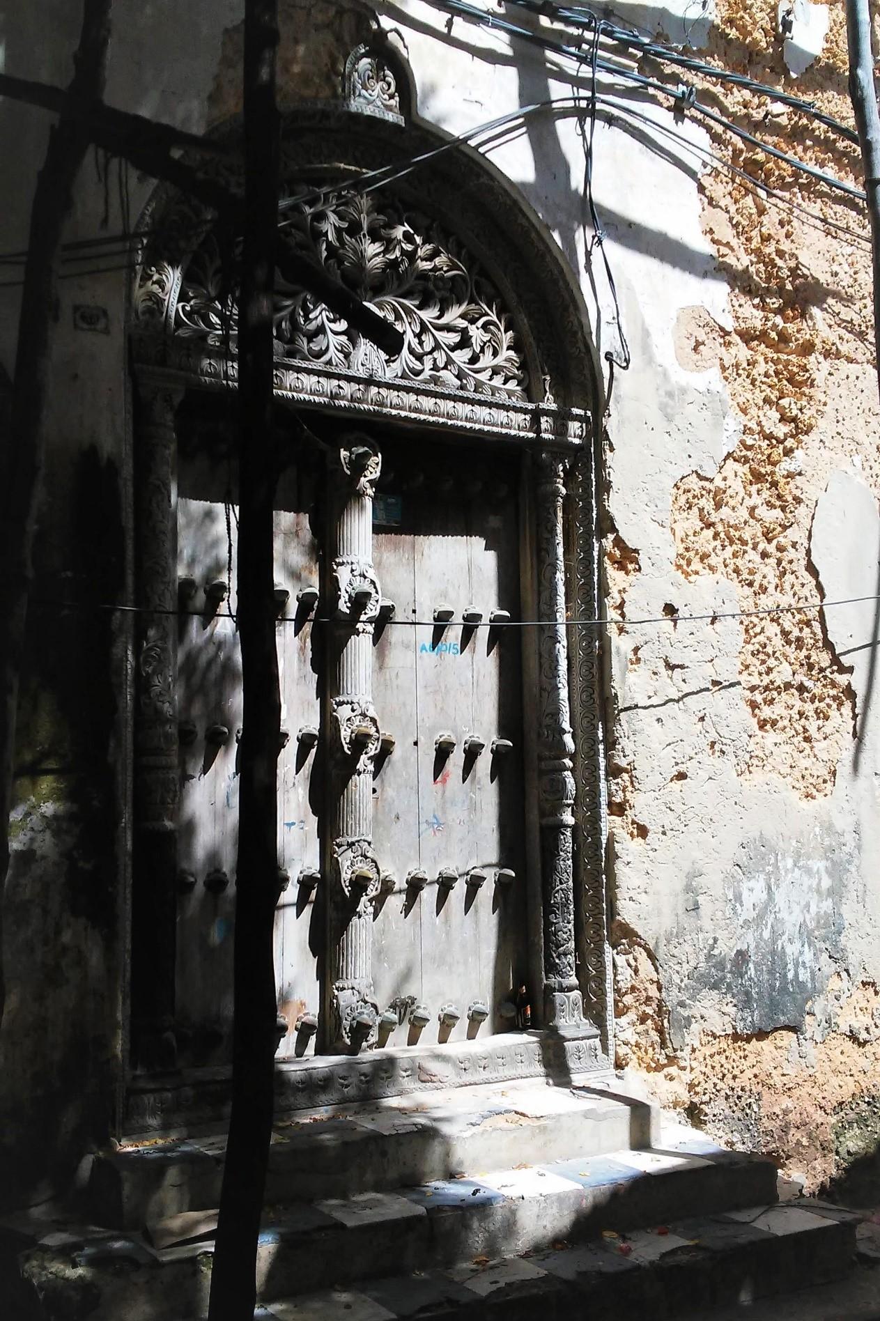 Tipu Tip House Door, World Heritage Site, Stone Town, Zanzibar    Photo Provided by Lauren Frick '20