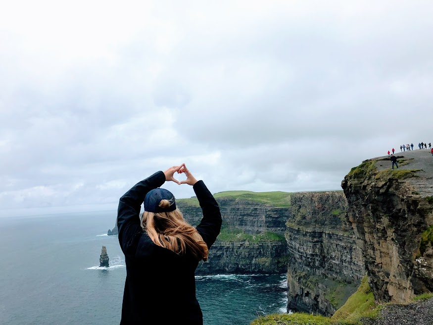 Representing AOII at the Cliffs of Moher  Photo provided by Shannon Green '20