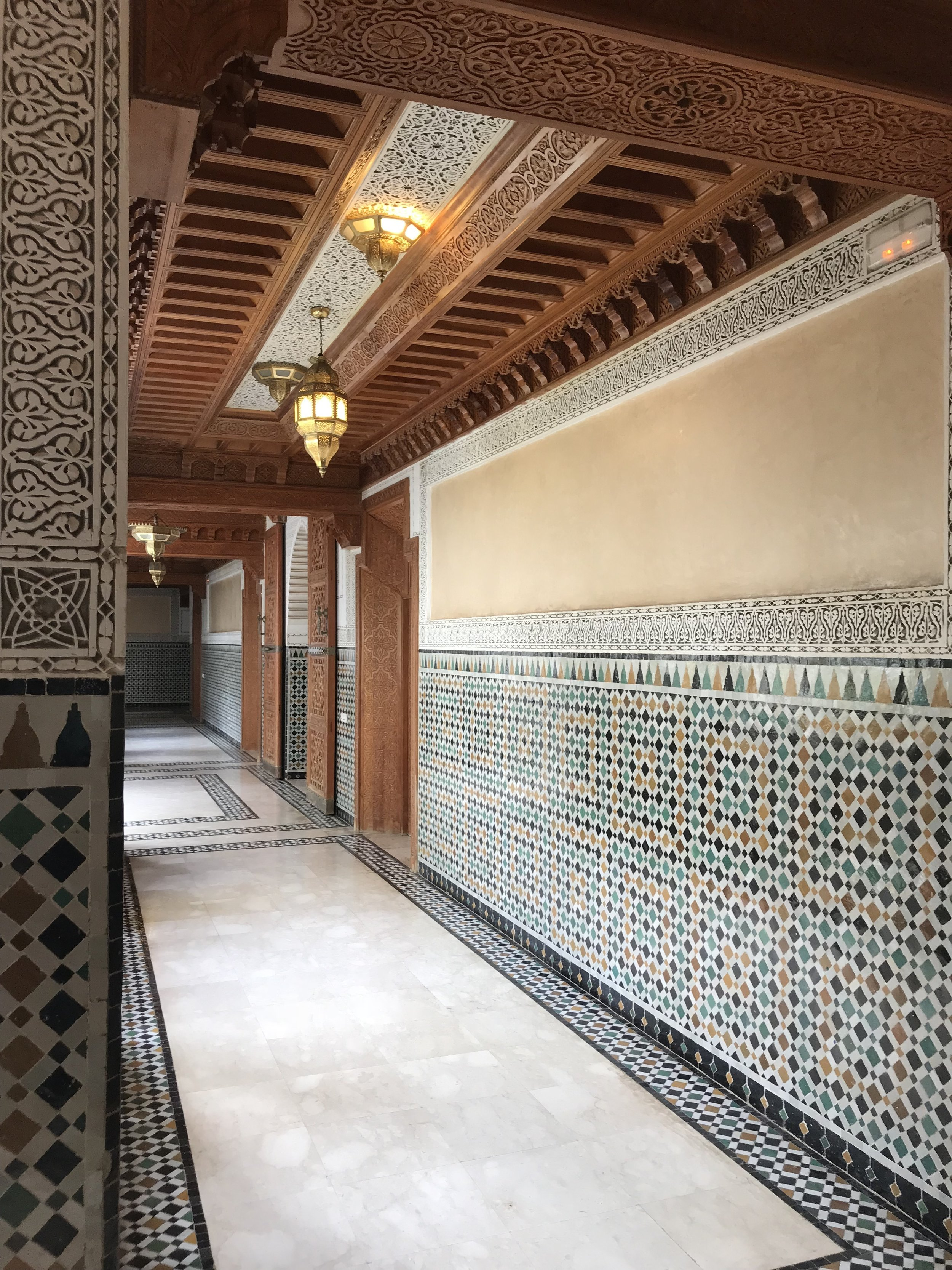Mosaic Walkway, Islamic Center of Science in Rabat, Morocco  Photo provided by Gwendalyn Ryan '20
