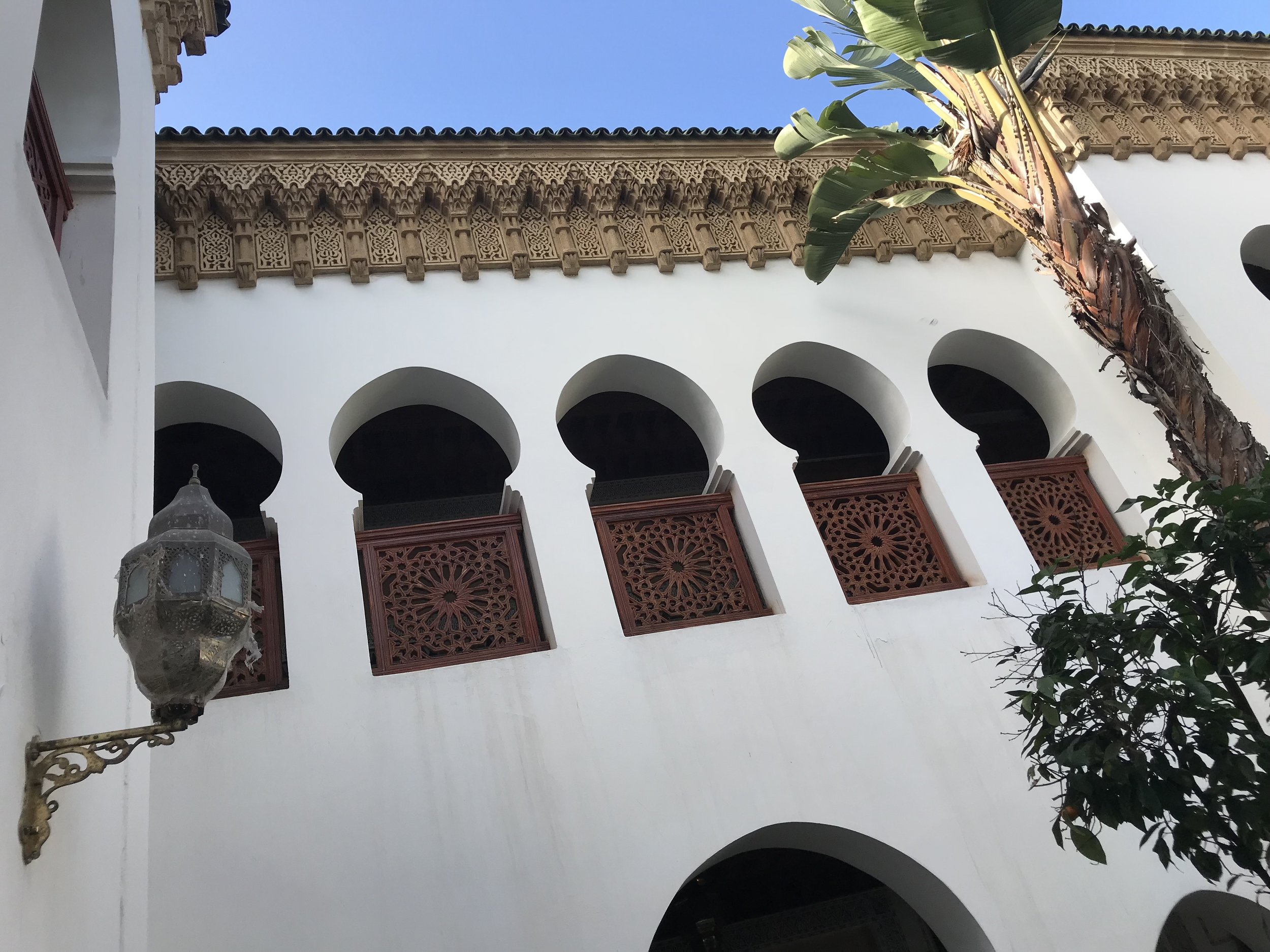 Courtyard, Islamic Center of Science in Rabat, Morocco  Photo provided by Gwendalyn Ryan '20