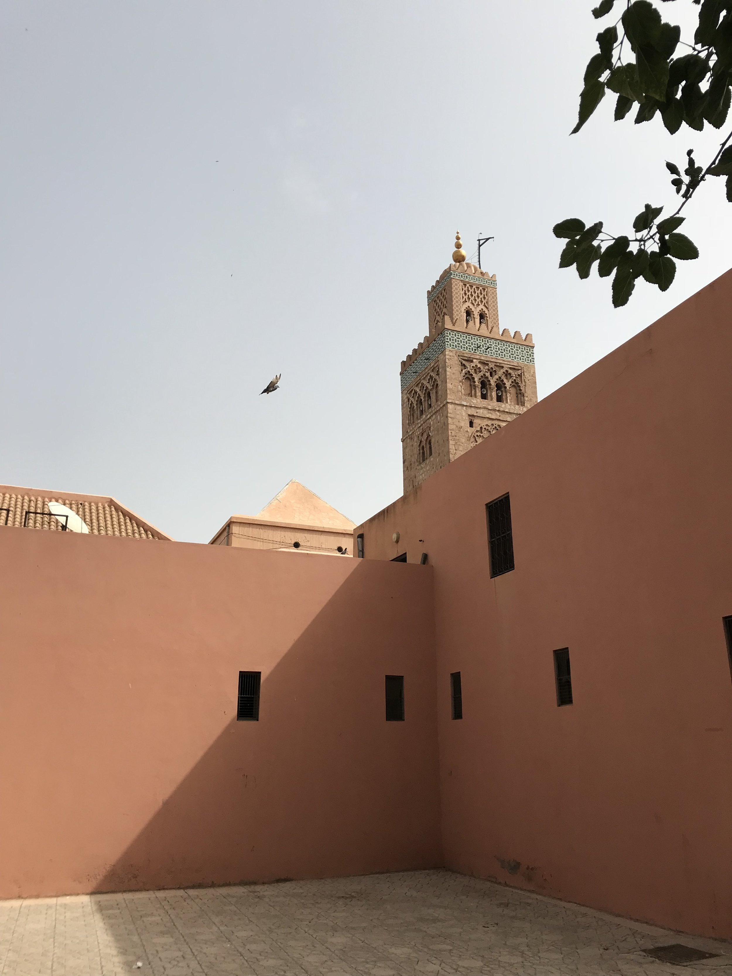 Minaret in Marrakech  Photo provided by Gwendalyn Ryan '20
