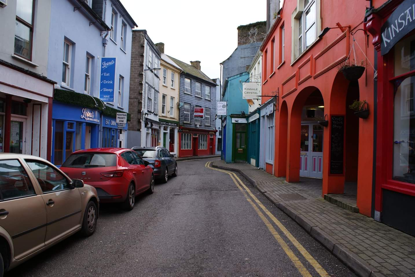 A small collection of shops in Kinsale's town center  Photo provided by Patrick Salerno '21