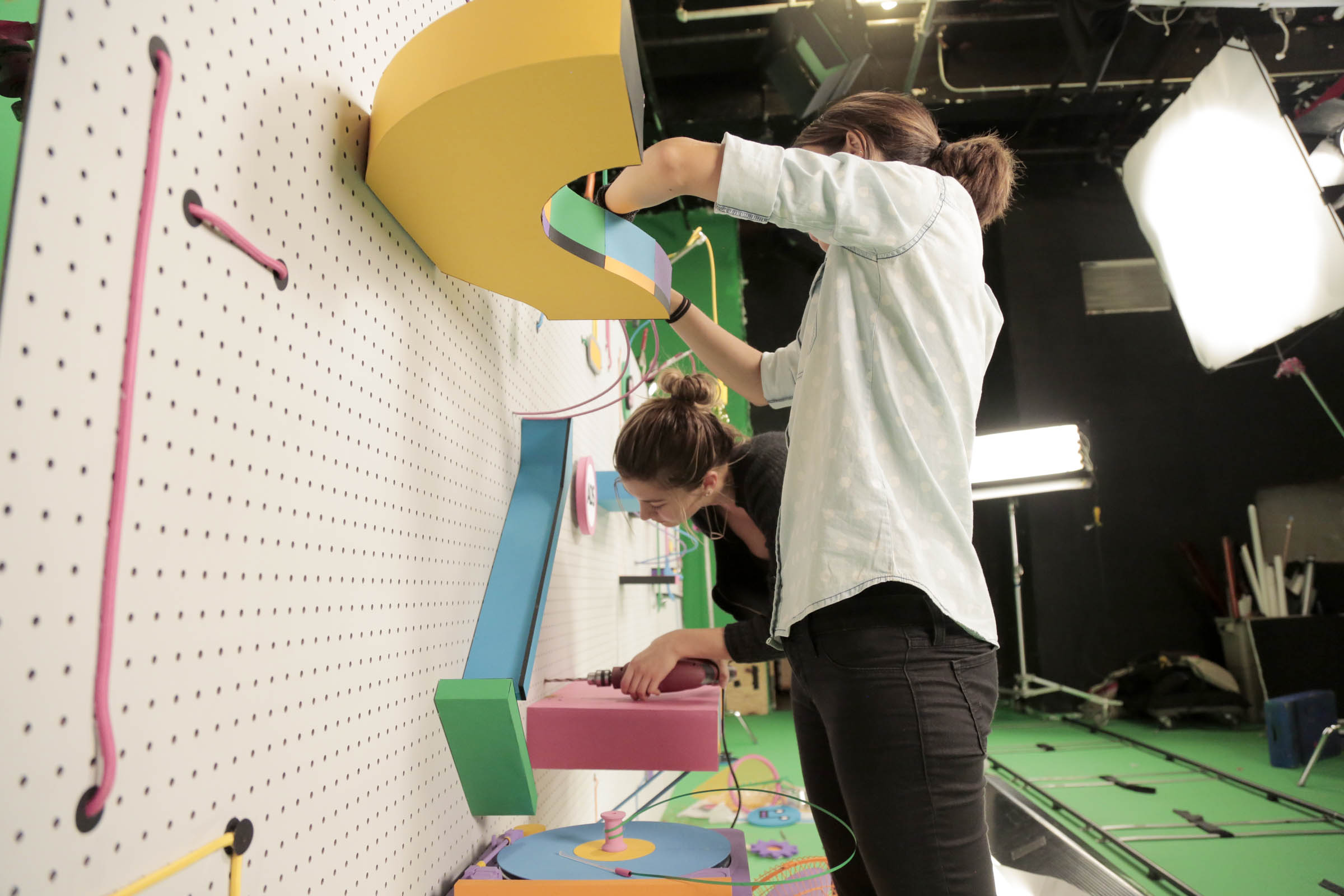 Toca TV Spot: Art Director Julie Wilkinson building Rube Goldberg machine